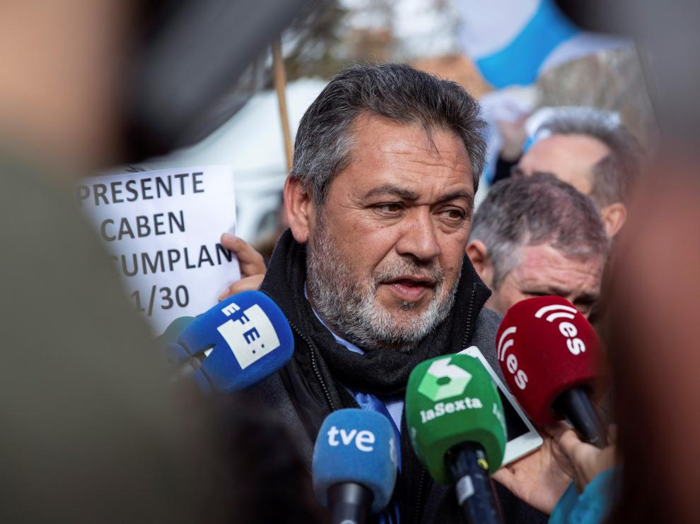 El presidente de la Federación Profesional del Taxi de Madrid, Julio Sanz.