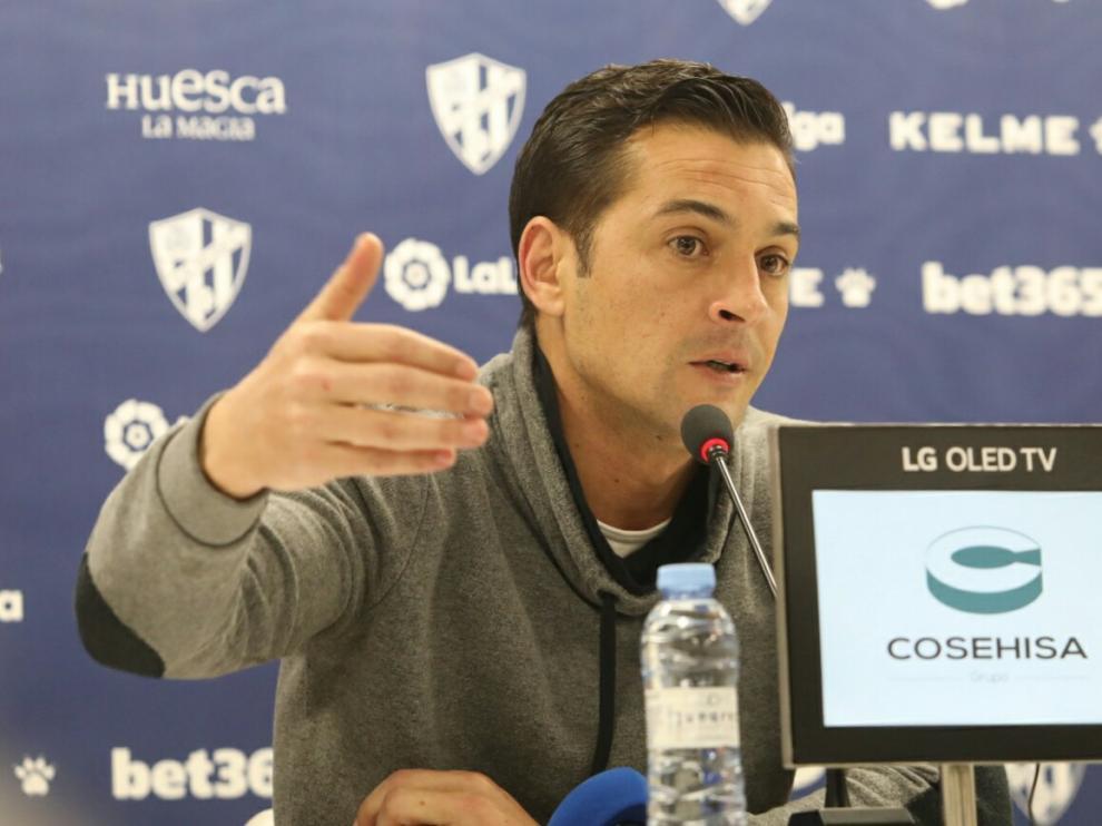 Francisco Rodríguez, en la rueda de prensa previa al duelo con el Valladolid.
