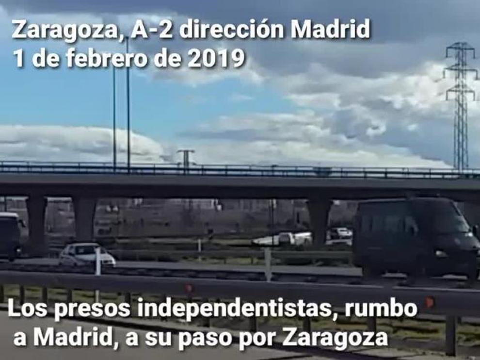 Los presos del 'procés', rumbo a Madrid pasando por Zaragoza