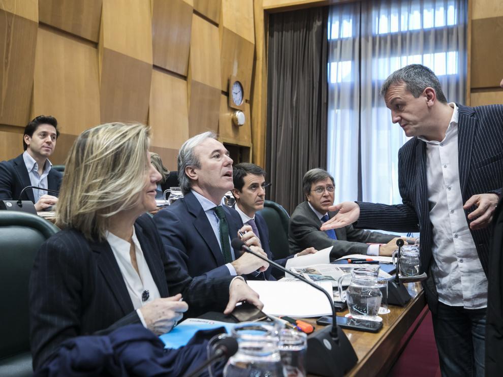 Pleno en el Ayuntamiento de Zaragoza.