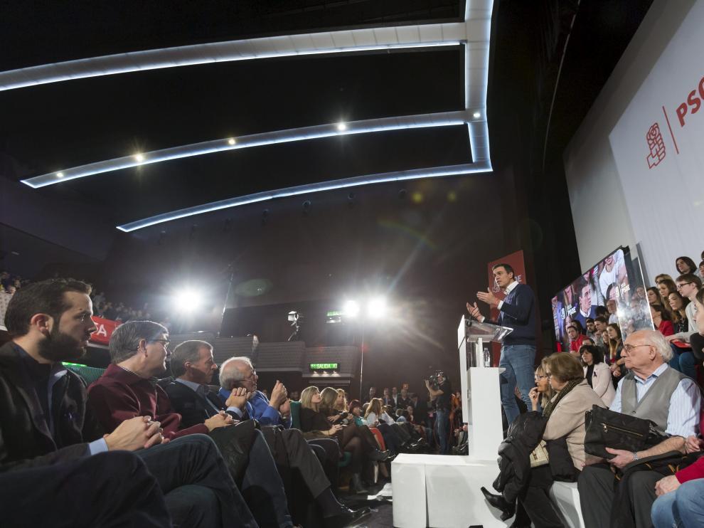 El mitin del PSOE se celebrará en los cines Palafox, el mismo escenario elegido para cerrar la campaña de las generales con Sánchez en diciembre de 2015.