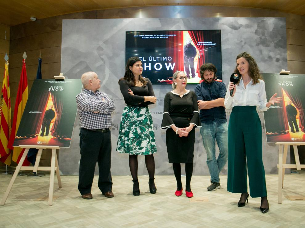 Tirado, Azcona, Gavasa, Rodrigo y Ruiz, ayer en la presentación de 'El último show'.