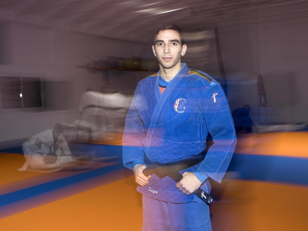 El internacional Sergio Ibáñez, del Zaragoza Judo Club.