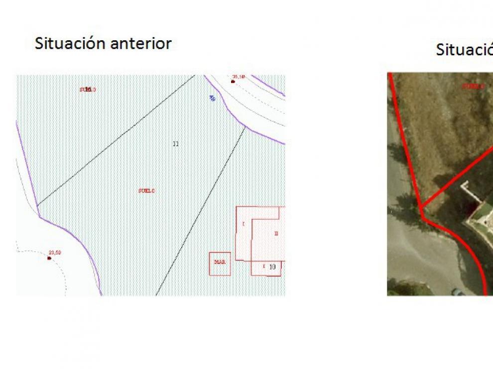 Imagen de una construcción irregular, dentro del proceso de regularización.
