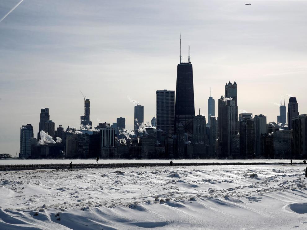 La ola de frío polar azota ciudades como Chicago.