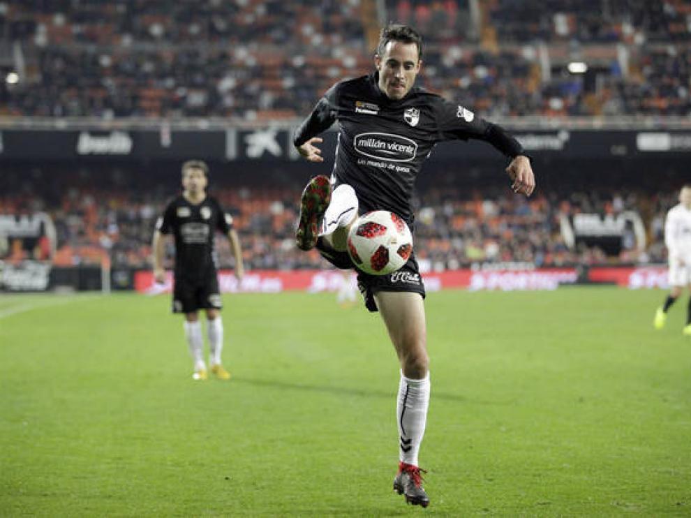 David Mainz, en un partido con el Ebro ante el Valencia en la Copa del Rey