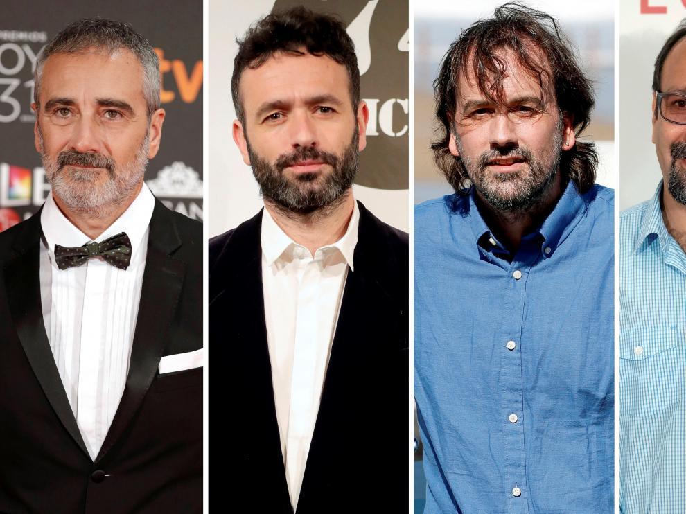 Combo de fotografías de los nominados a Mejor Dirección en los Premios Goya.
