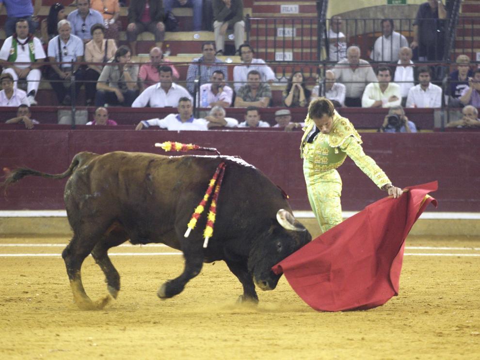Carlos Gallego, en su última comparecencia en la Feria del Pilar de Zaragoza.