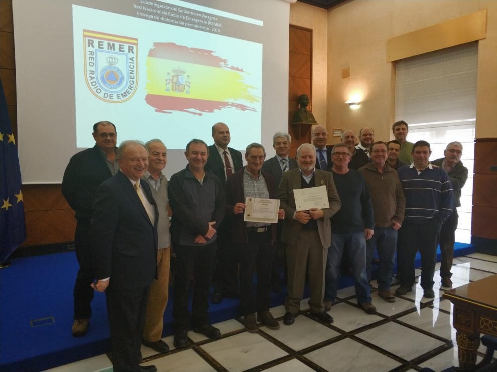 Reconocimiento a 15 radioaficionados de la Red Nacional de Radio de Emergencias