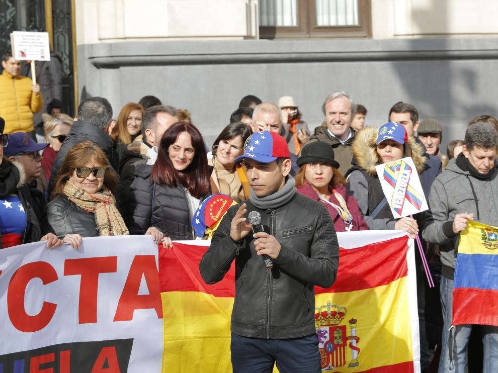 Concentración en Zaragoza contra el régimen de Maduro en Venezuela