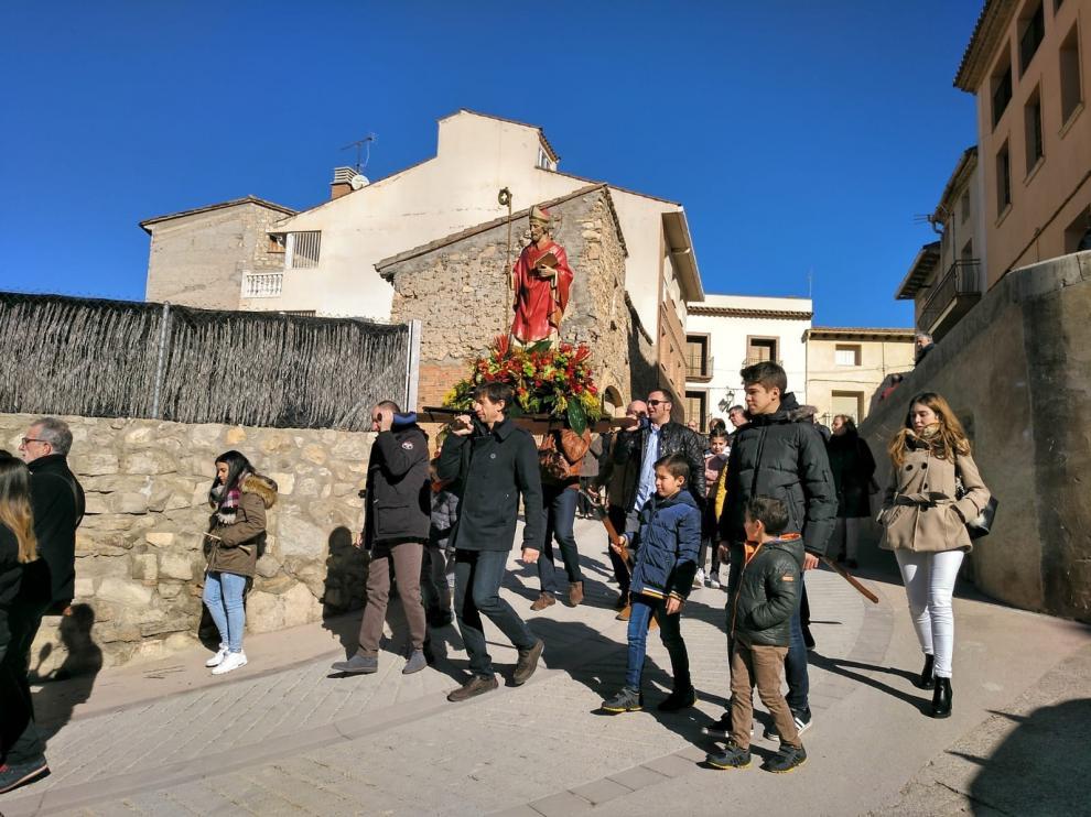 Las fiestas de invierno de Fonz llegan a su ecuador con los actos en honor a San Blas