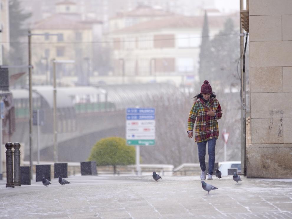 El frío se ha adueñado de Teruel esta mañana.