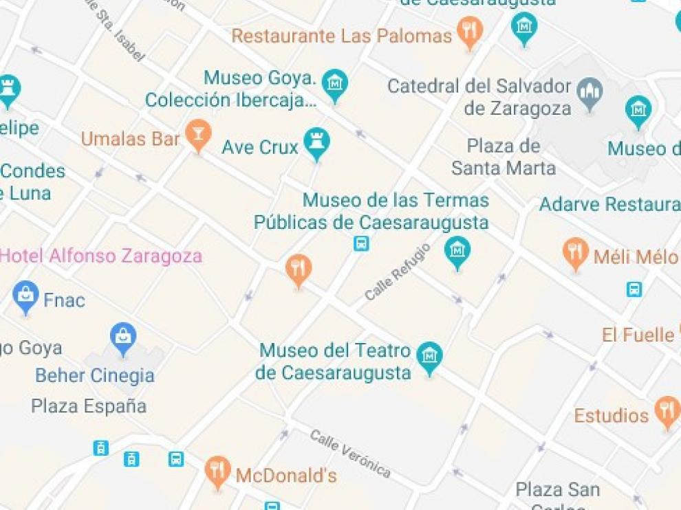 Detenido en Zaragoza un joven por agredir a otro en el interior de un bar