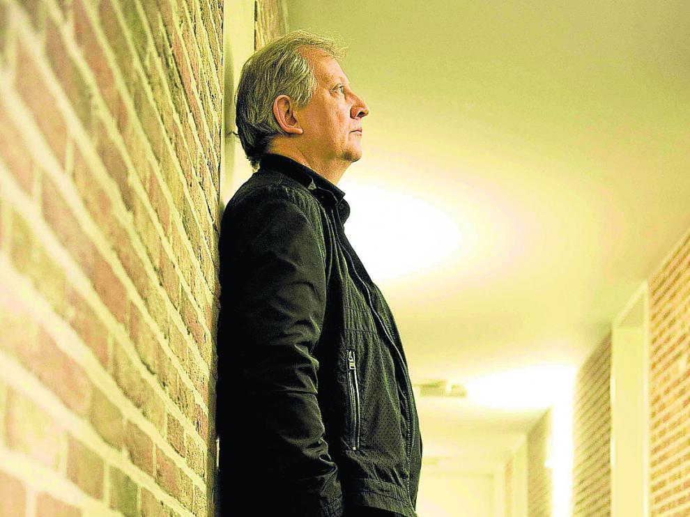Wim Mertens, concentrado antes de una actuación.