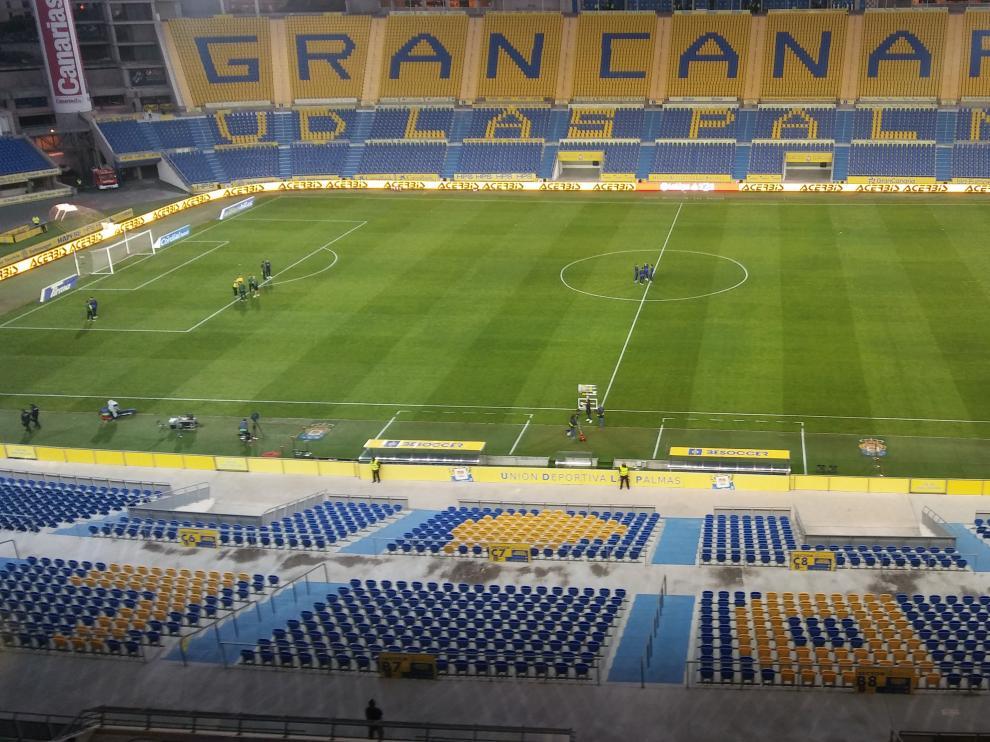 El estadio de Las Palmas, esta tarde.