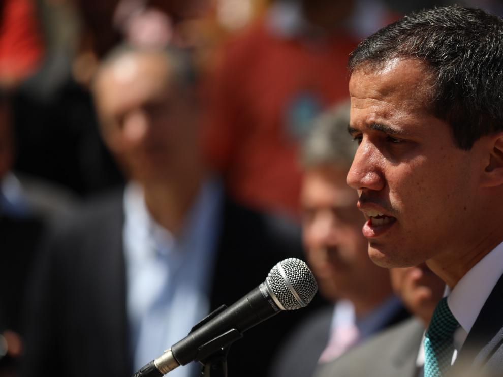 El jefe del Parlamento venezolano, Juan Guaidó.