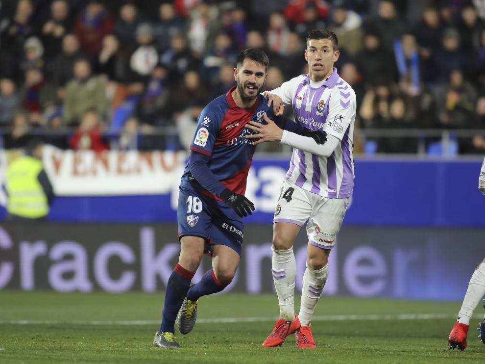 Pablo Insua, durante el partido del pasado viernes con el Valladolid.
