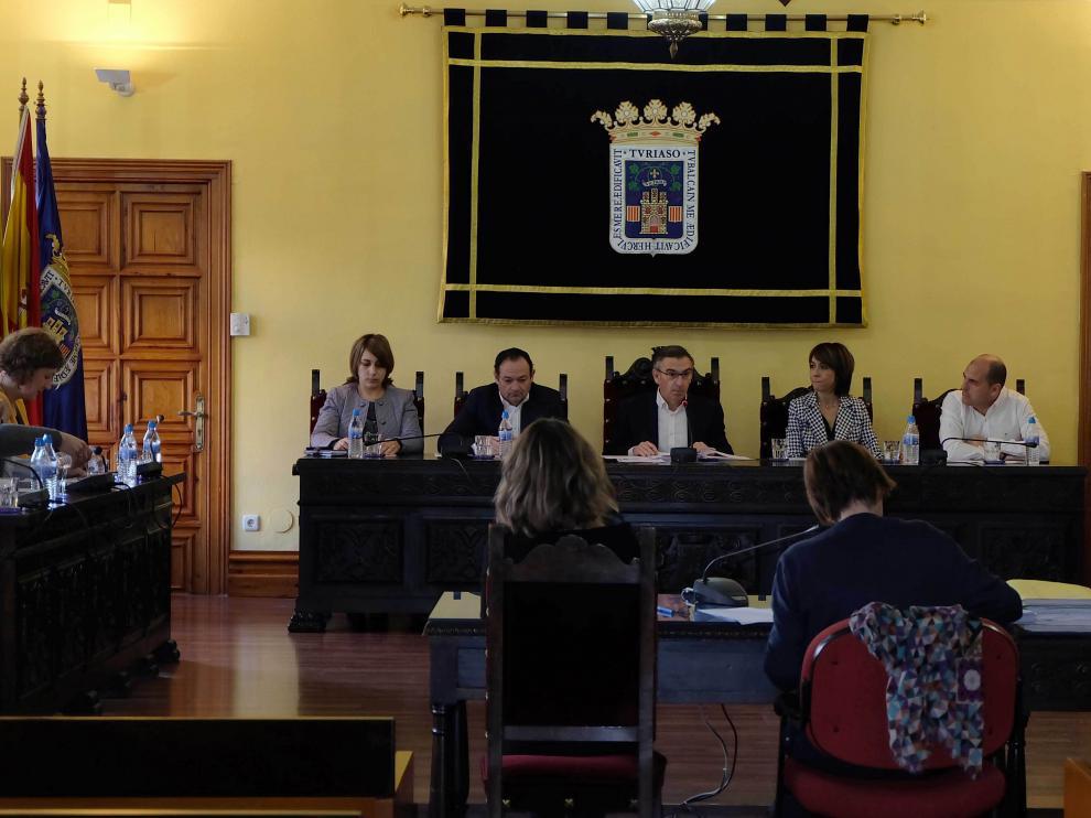 Pleno ordinario celebrado en el Ayuntamiento de Tarazona.