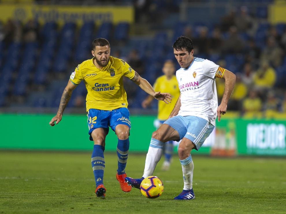 Partido de Las Palmas contra el Real Zaragoza