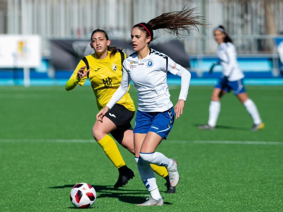 Partido de liga de Segunda División Femenina Zaragoza vs Son Sardina