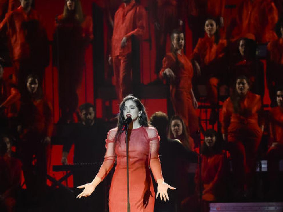 Momento de la actuación de Rosalía
