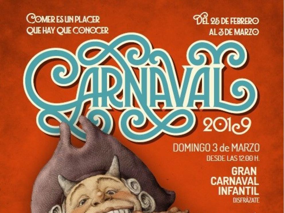 Cartel del Carnaval 2019 en Zaragoza