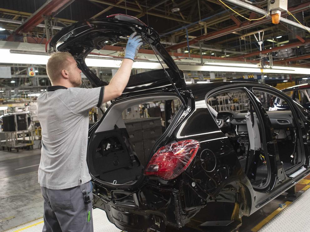 Actividad en la planta de Opel en Figueruelas