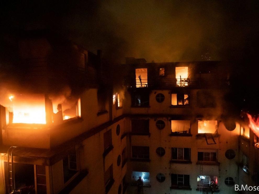 Incendio en una vivienda de París