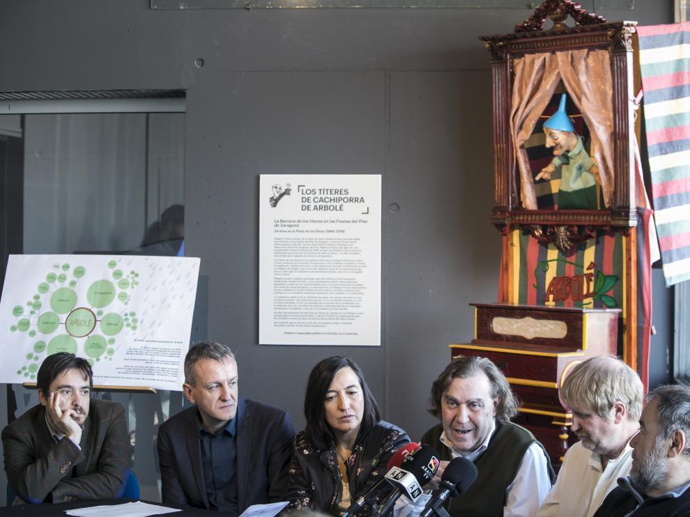 Nacho Escuín, Fernando Rivarés, Cristina Palacín, Esteban Villarocha, Pablo Girón e iñaqui Juárez.