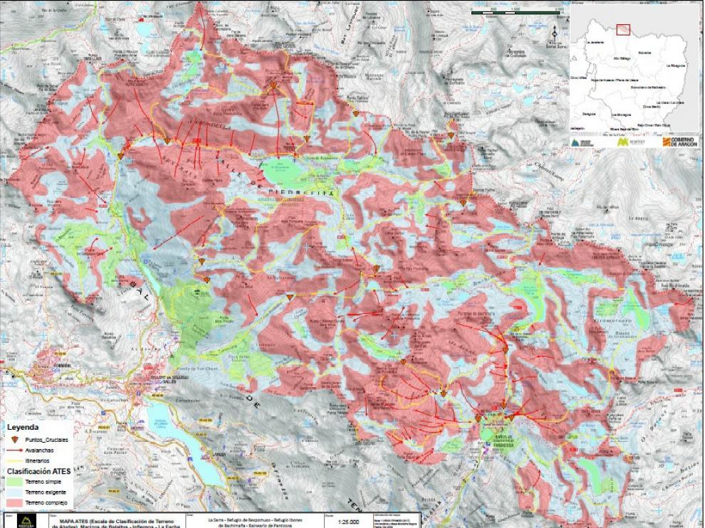 Mapa De Los Pirineos.Las Cartografias De Riesgo De Aludes Del Pirineo Han
