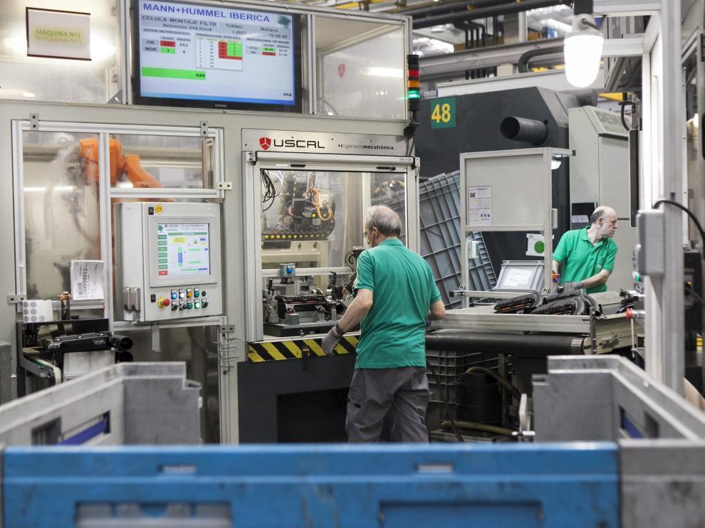Instalaciones de la fábrica de Mann-Hummel en la Plataforma Logística de Zaragoza