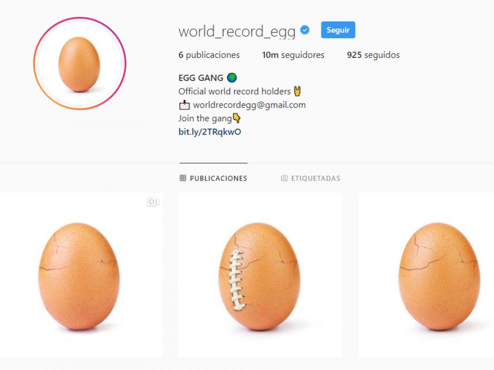 La cuenta @world_record_egg.
