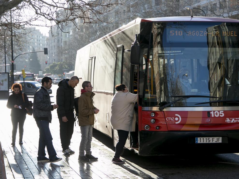 Los viajeros del bus del entorno de Zaragoza aumentan por quinto año ...