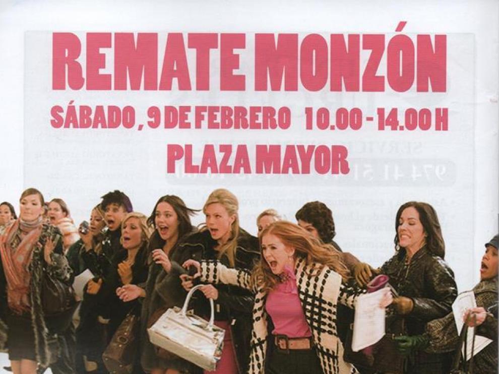 Cartel de la Feria del Remate de Monzón