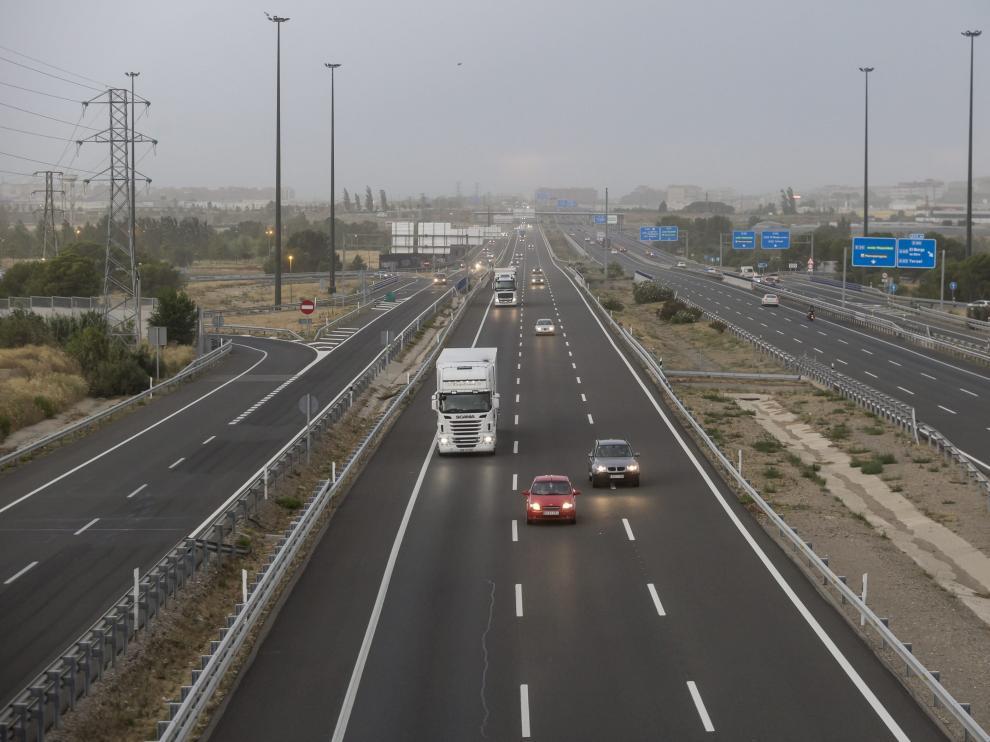 Imagen de archivo de la A-2, convertida en Ronda Norte a su paso por Zaragoza.