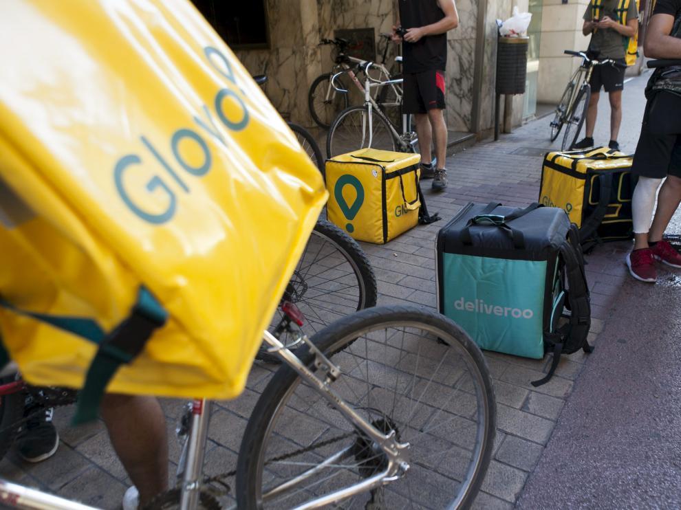 Inspección de Trabajo falló a favor de los 'riders' el año pasado en Zaragoza.