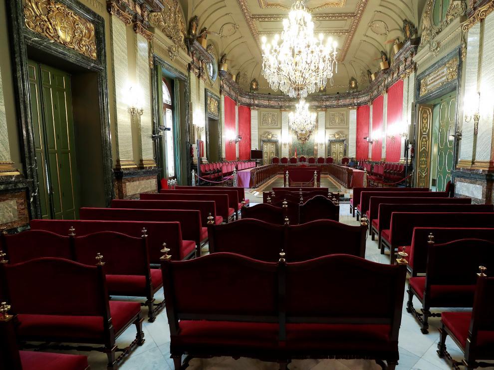La sala del Supremo en la que se juzgará a los responsables del 'procés'.