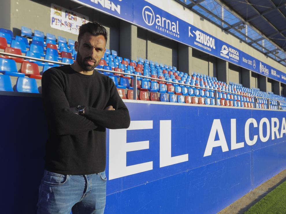 Enric Gallego, en El Alcoraz.