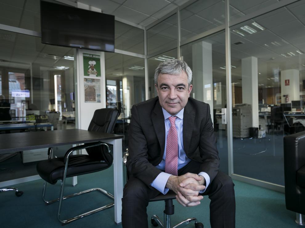 Luis Garicano, en la redacción de HERALDO, durante la entrevista, este jueves.