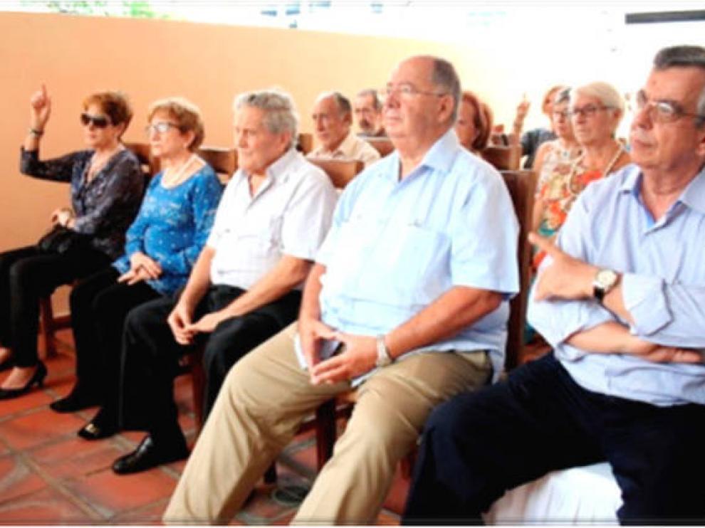 Un encuentro de la Agrupación Aragonesa de Venezuela, celebrando San Jorge
