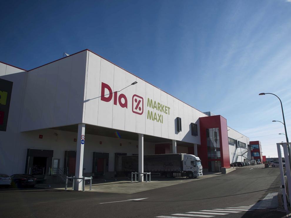 El centro logístico de Dia en Zaragoza.
