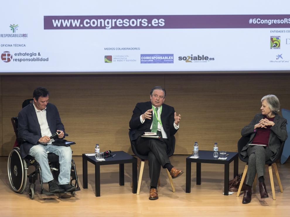 El periodista Jordi Jauma, el humanista Juan José Almagro y la filósofa Victoria Camps.