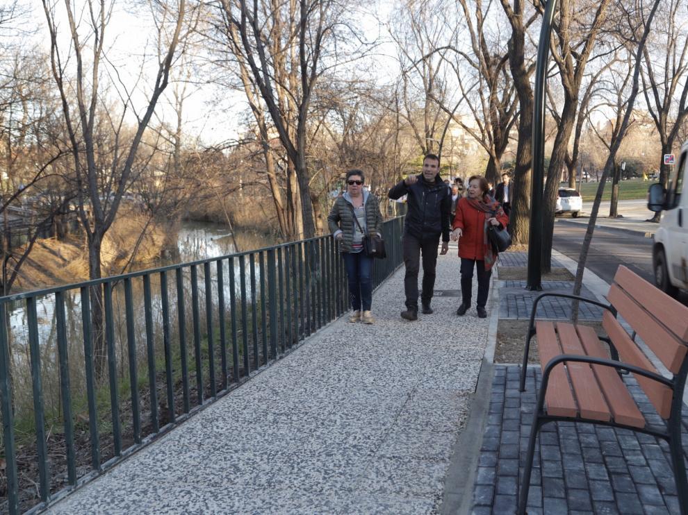 Obras de mejora en el entorno el Canal Imperial a su paso por La Paz.