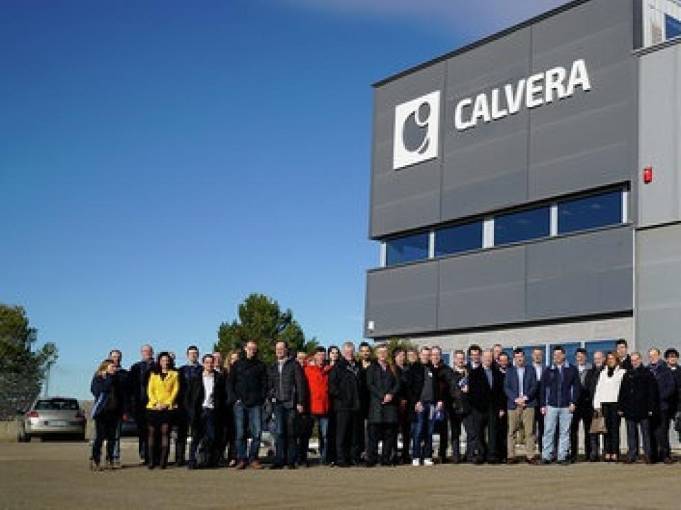 Profesionales de más de una veintena de empresas visitaron las instalaciones de Calvera en Épila.
