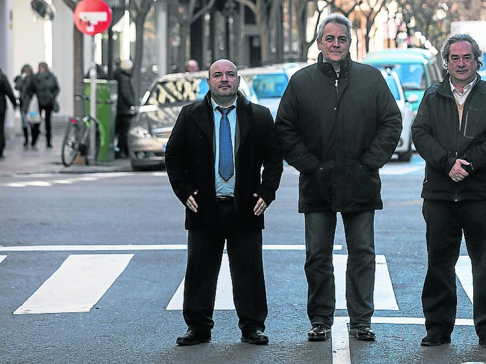 De izquierda a derecha, Carlos Arregui, Juan José Alba, Luis Soriano y Santiago Abad.
