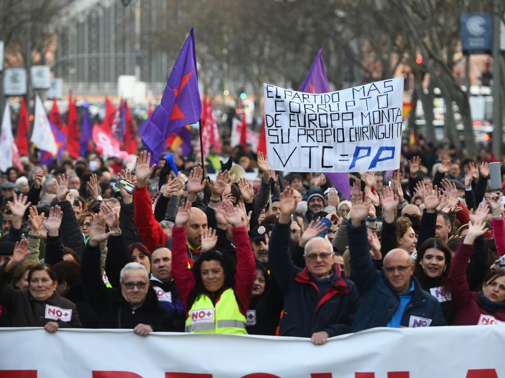 Manifestación este sábado de los taxistas en Madrid