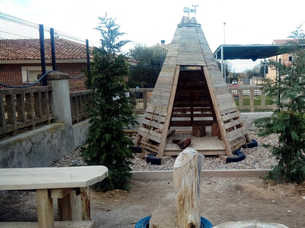 Varios colegios, como el de Chimillas, han dotado de nueva vida a sus recreos.