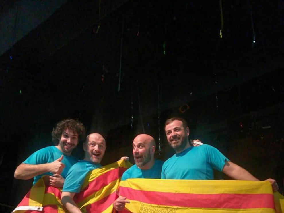 Los aragoneses,tras quedar segundos en el Match de Improvisación de Castellón.