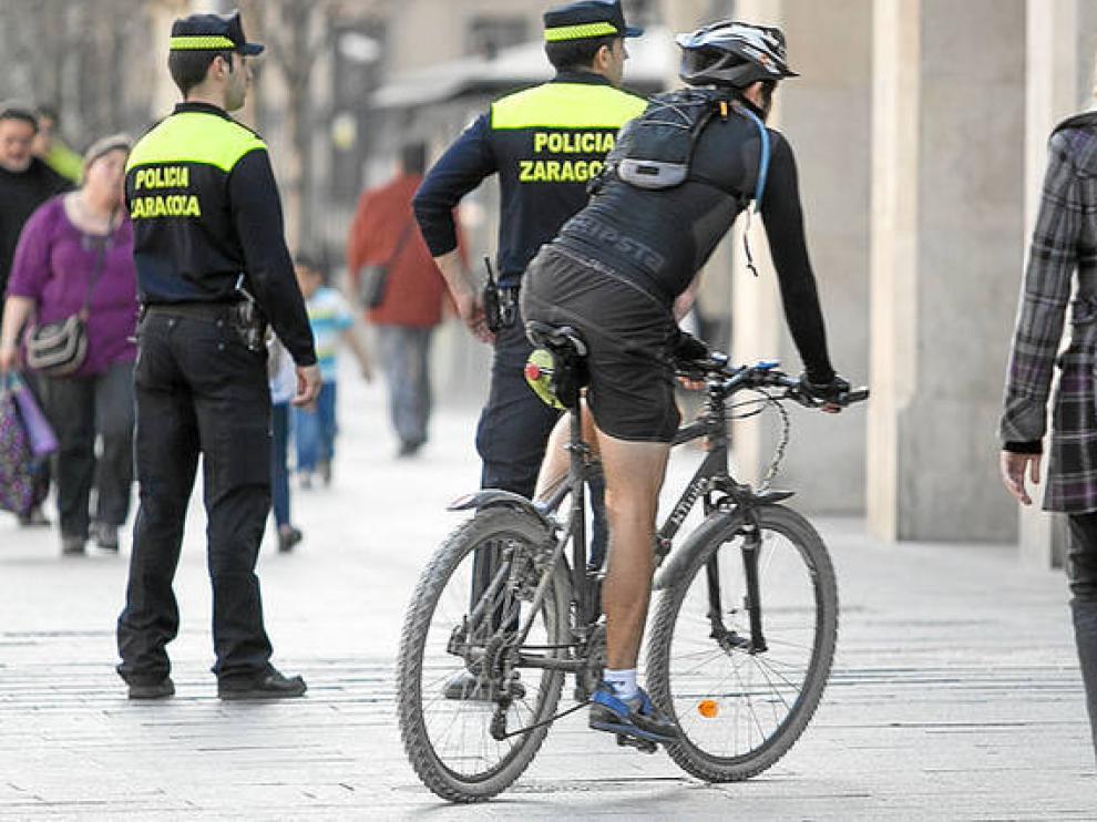 Agentes de la Policía Local, en una imagen de archivo