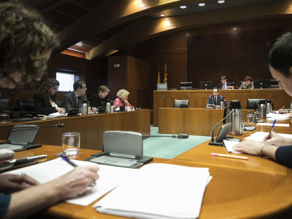 Montaner, ayer en la comisión de estudio de las Cortes